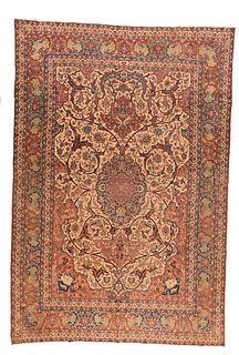 """Isfahan Rug, 8'3"""" x 12'"""