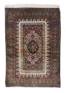 Silk Qum Rug, 3'6'' x 5'0''