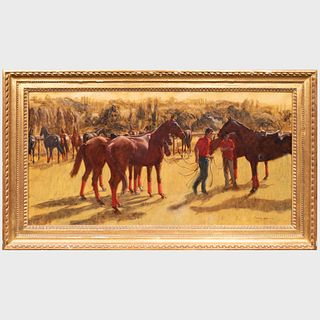 Henry Koehler (1927-2018): Polo Grooms, Deauville