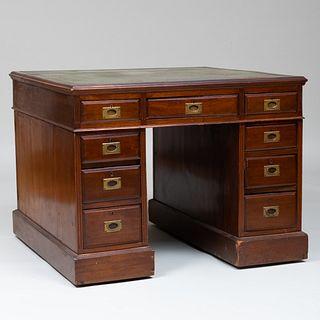 Late Victorian Mahogany Campaign Desk