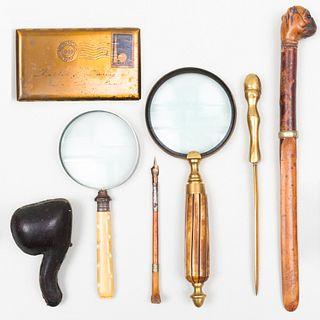 Group of Gentleman's Desk Accessories