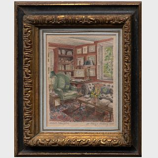 Mark Hampton (1940-1998): The Red Library