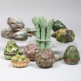 Group of Eight Artichoke Form Table Articles