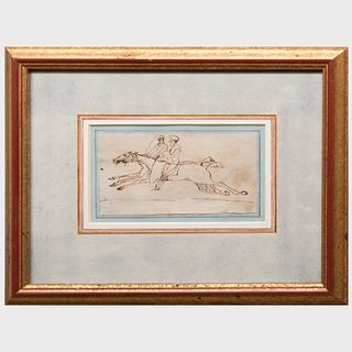Charles John Kemeys-Tynte (1800-1882): Two Jockeys Up