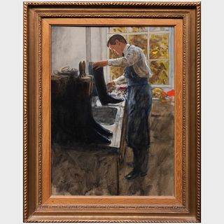 Henry Koehler (1927-2018): Cleaning Boots