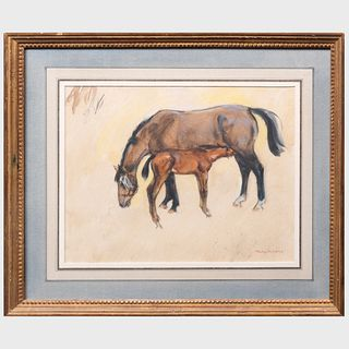 Henry Koehler (1927-2018): Reflection and Foal, IV