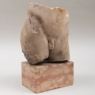 Roman Carved Marble Fragmentary Torso of a Man