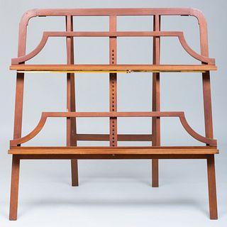 Modern Mahogany Print Stand