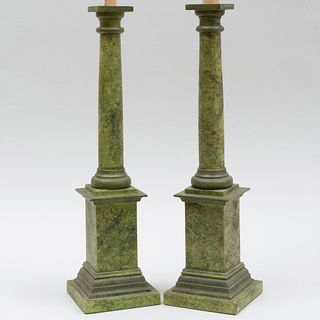Pair of Faux Painted Table Lamps