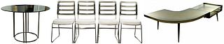 MCM Chrome Table and Chair Assortment