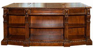 Hekman Mahogany Veneer Desk