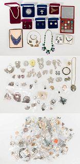 Sterling Silver, Rhinestone, Designer and Costume Jewelry Assortment