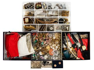 10k Gold, Sterling Silver and Costume Jewelry Assortment