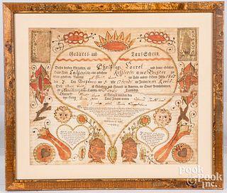 Friederich Krebs fraktur birth certificate
