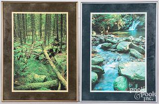 Two Harold E. Malde digital ink jet prints