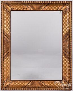 Parquetry inlaid frame, ca. 1900