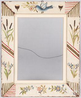 Folk art painted frame, ca. 1940