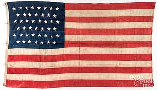 Two Large forty-five star American flags, ca. 1896