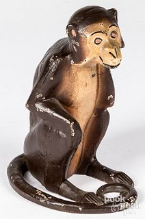 Cast iron monkey doorstop, early 20th c.