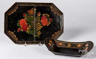 Two pieces of toleware, 19th c.