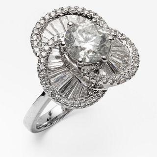 18k Gold Brilliant Cut Diamond Ring