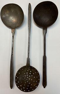 Three Wrought Iron Utensils