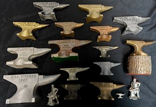 Miniature Advertising Anvils and Figures