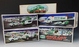Five Hess Vehicle Toys