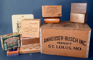Budweiser Crate and Tins