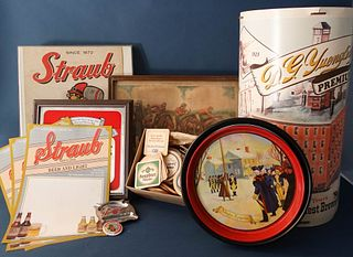 Collection of Beer Advertising Items