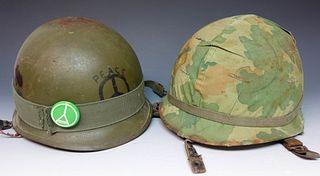 Two Vietnam Army Helmets