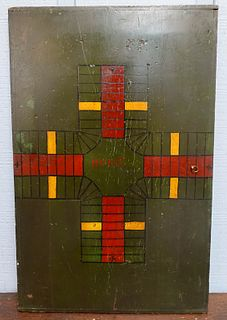 Antique Painted Game Board