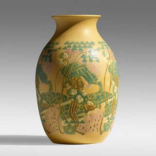 Elizabeth and Mary Frances Overbeck for Overbeck Pottery, The Sower vase