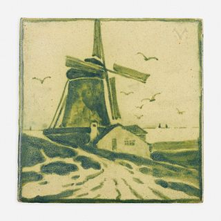 Charles Volkmar, Tile with windmill