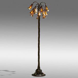 Tiffany Studios, Twelve-light Lily floor lamp