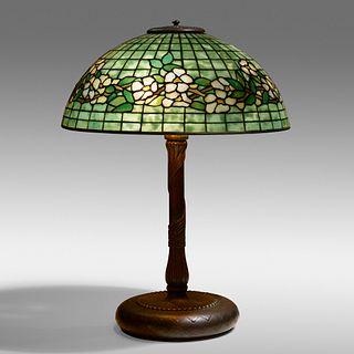Tiffany Studios, Dogwood Band table lamp