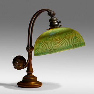 Tiffany Studios, Damascene desk lamp