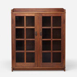 Gustav Stickley, Double-door bookcase, model 717