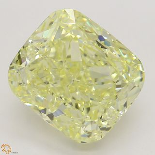5.01 ct, Natural Fancy Yellow Even Color, VS1, Cushion cut Diamond (GIA Graded), Appraised Value: $168,800