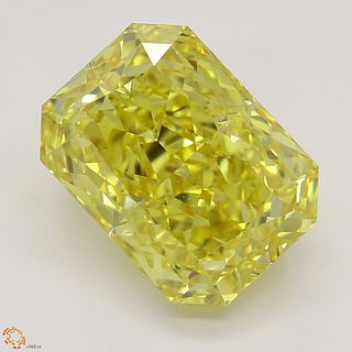 3.02 ct, Natural Fancy Vivid Yellow Even Color, VVS1, Radiant cut Diamond (GIA Graded), Appraised Value: $365,400