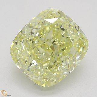 2.34 ct, Natural Fancy Yellow Even Color, VVS1, Cushion cut Diamond (GIA Graded), Appraised Value: $36,400