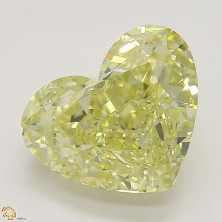 3.01 ct, Natural Fancy Yellow Even Color, VVS2, Heart cut Diamond (GIA Graded), Appraised Value: $65,600