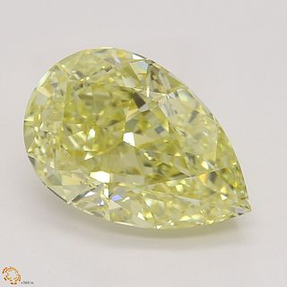 3.08 ct, Natural Fancy Yellow Even Color, VVS1, Pear cut Diamond (GIA Graded), Appraised Value: $101,000