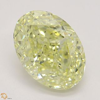 1.81 ct, Natural Fancy Yellow Even Color, VS2, Oval cut Diamond (GIA Graded), Appraised Value: $24,100