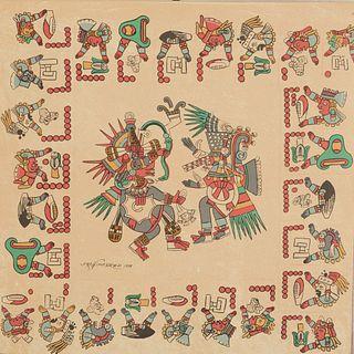 Paso y Troncoso, Francisco del. Descripción, Historia y Exposición del Códice Borbónico. México: Siglo Veintiuno XXI, 1981. Piezas: 2.