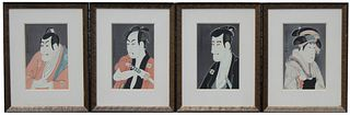 (4) Japanese Color Woodblock Prints