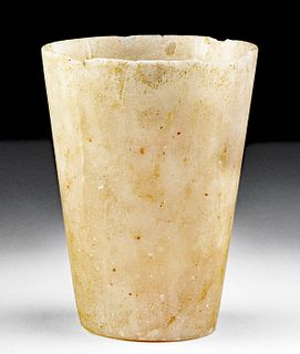 Egyptian Late Dynastic Alabaster Drinking Vessel