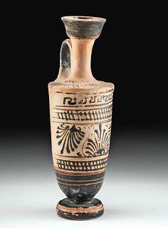 Greek Attic Pottery White Ground Lekythos