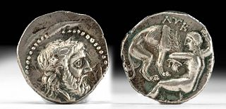 Greek Paeonian Silver AR Tetradrachm