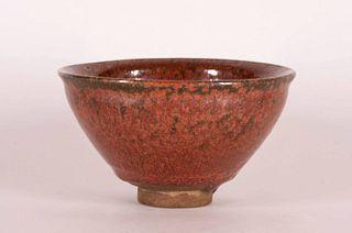 Red-Glazed Jian Tea Bowl
